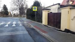 Chodník ulice Nádražní v Javorníku